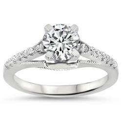 top quality vintage style engagement ring diamond moissanite rings