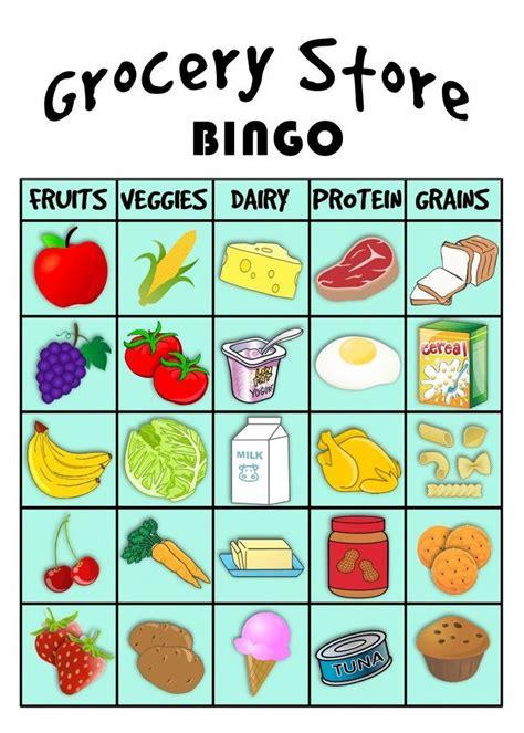 grocery bingo preschool amp elementary special 135 | 17733e0616e2e68076d3a58484e2ee3c