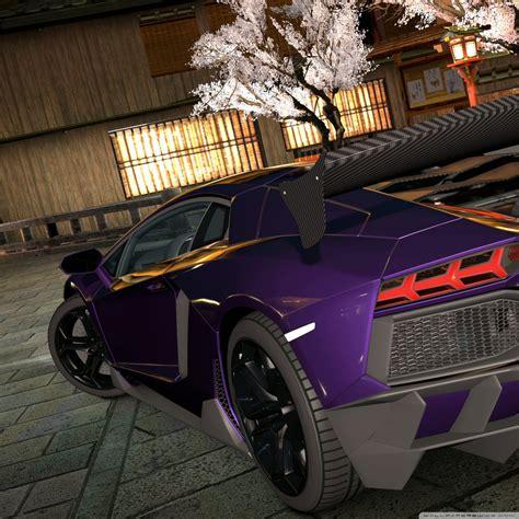 Lamborghini Aventador Lp700-4 Purple 4k Hd Desktop