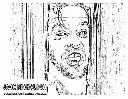 Coloring Pages Star Movies Jack Famous Shining