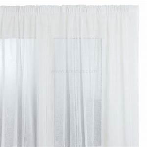 Voilage Lin Blanc : voilage 300x h240 cm jour lin blanc voilage eminza ~ Teatrodelosmanantiales.com Idées de Décoration