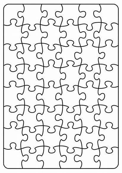 Puzzle Jigsaw Transparent Clipart Pattern A4 Puzzles