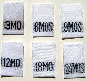 mixed lot of 120 pcs white woven clothing labels size tags With dress size labels