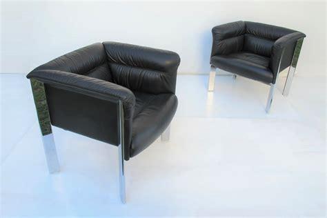 Pair Vintage Poltrona Frau Lounge Chairs. B & B Italia