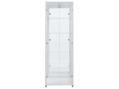 vitrine paros ii coloris blanc vente de biblioth 232 que et vitrine conforama