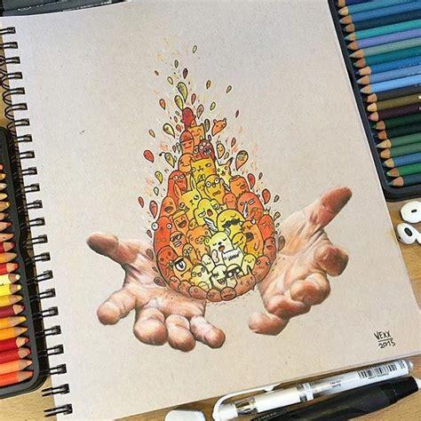 extremely creative piece  atvexxart  color pencils