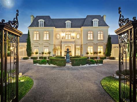 french chateau style gated mansion victoria australia homes house plans