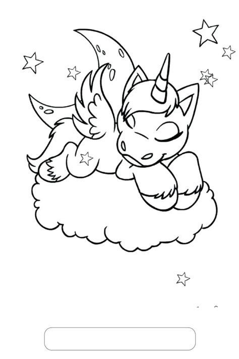 unicorn coloring pages unicorn sleeping  clouds print color craft