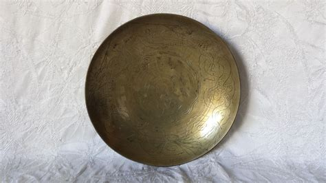 brass chinese bowls bowl antique engraved dragon asian cgi 1930s decorative