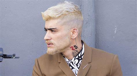 zayn malik   peroxide blonde   debuts drastic