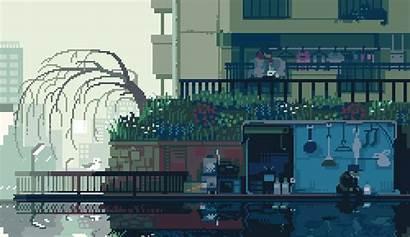 Pixel Japanese Forlorn Nostalgic
