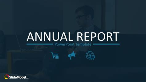 free background report annual report template for powerpoint slidemodel