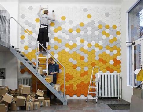 traeullit hex acoustic tiles  cut  tectum panels