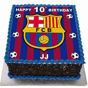 Barcelona Birthday Cake - Flecks Cakes