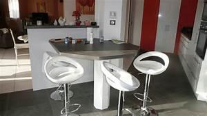 Table De Travail Cuisine : table de cuisine avec plan de travail excellent modele de ~ Nature-et-papiers.com Idées de Décoration