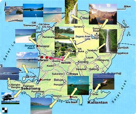 lombok map tourism map lombok island gili trawangan