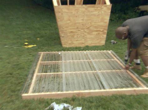 install corrugated plastic panels