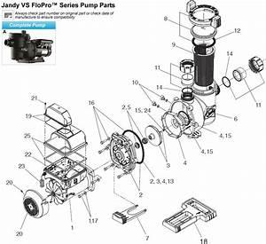 Jandy Vs Flo Pro Series Pump Parts
