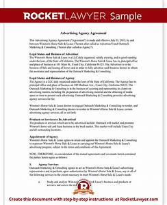 advertising agency agreement contract sample template With advertising contracts templates