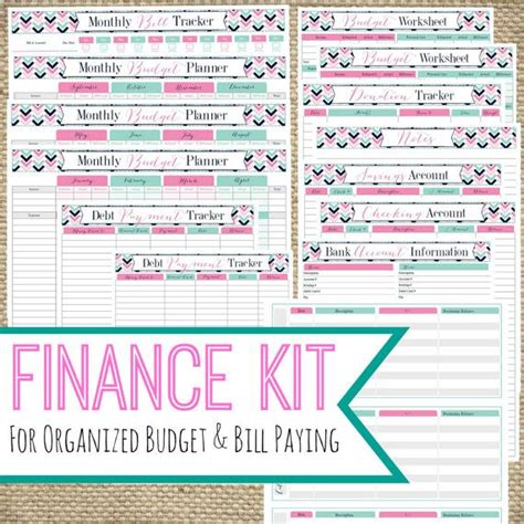 printable finance kit instant   bill pay