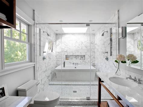 White Bathroom Cabinets Light Green Glass Subway Tile Wall