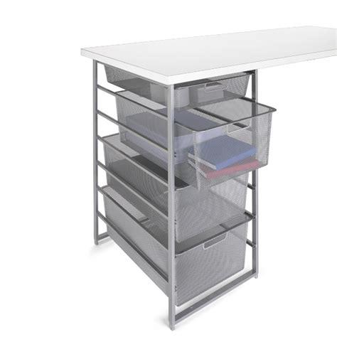 platinum elfa mesh desk drawers the container store