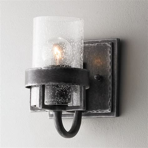 factory vintage iron wall sconce shades of light