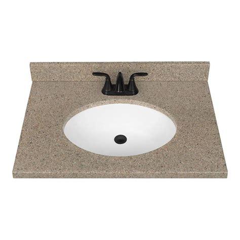 lowes vanity tops shop nutmeg solid surface integral bathroom vanity top