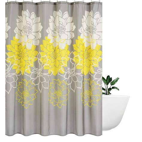 shower cloth wimaha peony flower fabric shower curtain mildew resistant