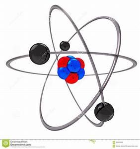 Atom Model Stock Illustration  Illustration Of Blue