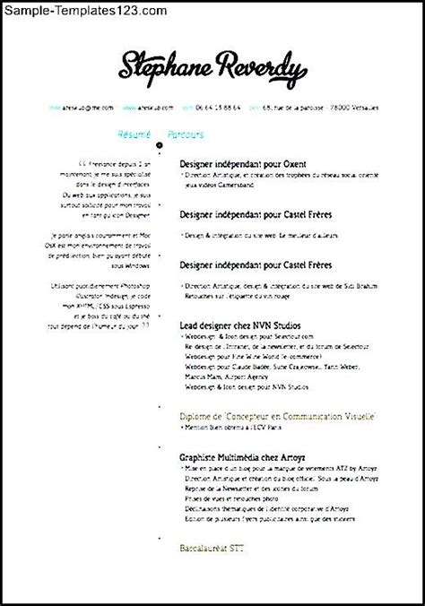 Visual Resume Formats by Visual Designer Resume Sle Sle Templates