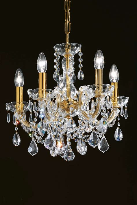 lustre cristal transparent et m 233 tal dor 233 5 lumi 232 res masiero sp 233 cialiste du lustre en cristal