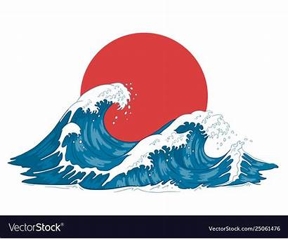 Wave Japanese Waves Ocean Kanagawa Raging Artwork