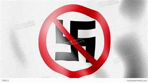 10676 Waving Anti Nazi Flag Stock Animation   790613