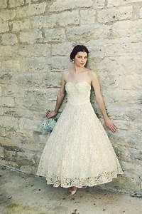 vintage tea length lace wedding dresswedwebtalks wedwebtalks With wedding dress tea length