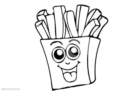 Cute Food Coloring Pages French Fries