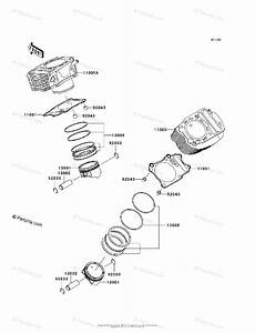 Kawasaki Motorcycle 2009 Oem Parts Diagram For Cylinder
