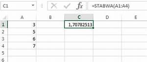 Standardabweichung Berechnen Beispiel : standardabweichung mit excel berechnen ~ Themetempest.com Abrechnung