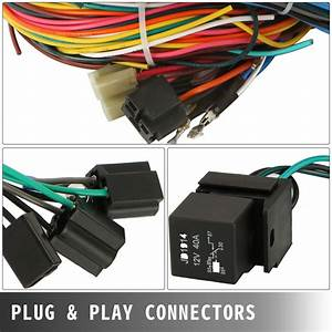 Universal X  21 Circuit Wiring Harness Fit