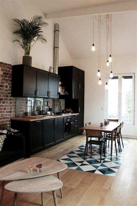 le de sol pas cher les 25 meilleures id 233 es de la cat 233 gorie cuisines noires sur design moderne de