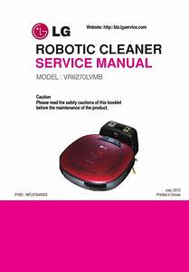 Lg Vr6270lvmb Hombot Robotic Vacuum Service Manual And