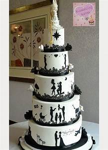 Amazing Split Half & Half Wedding Cakes - Mon Cheri Bridals
