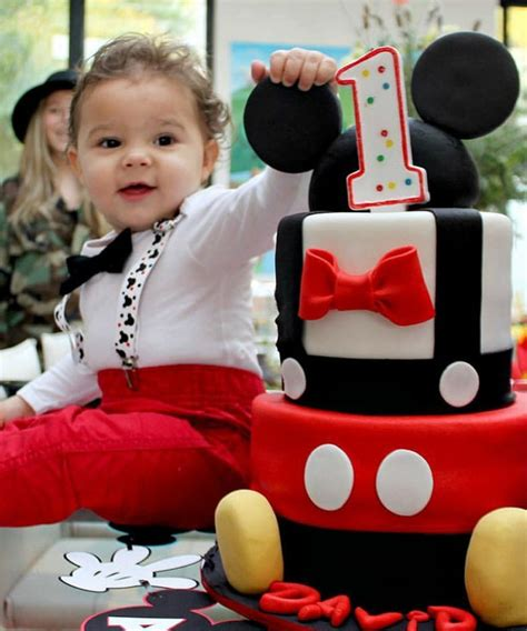 Baby Boy First Birthday Mickey Mouse Outfit Mickey Theme Party u2013 Noahu0026#39;s Boytique