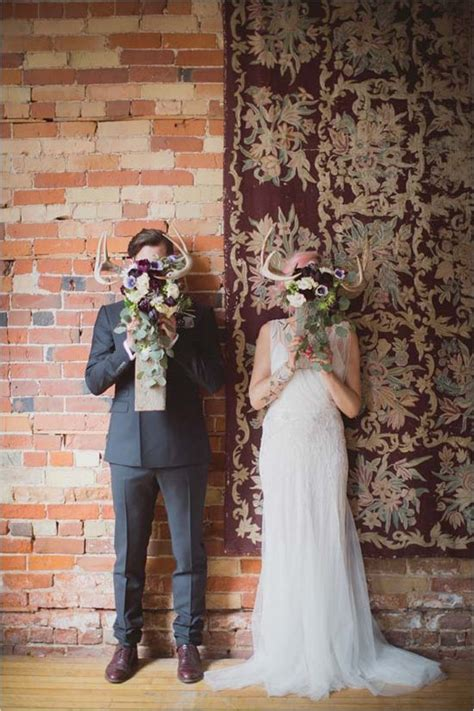 ways   antlers   rustic wedding deer