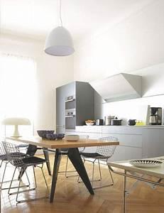 cuisine ouverte sur la salle a manger 50 idees gagnantes With idee deco cuisine avec table sejour design