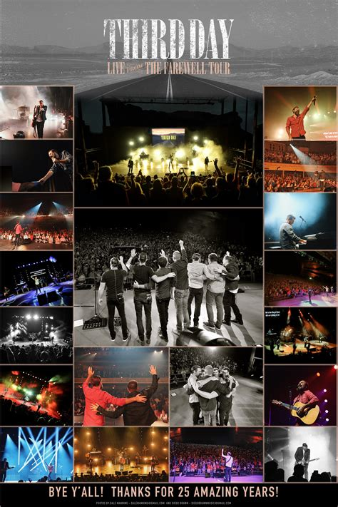 Third Day Limited Edition Farewell Tour photo poster ...