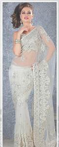 White Net Saree 19108 With Unstitched Blouse | Saree ...