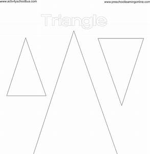 Coloring Pages for Kids: Triangle Shape Coloring Page for Kids