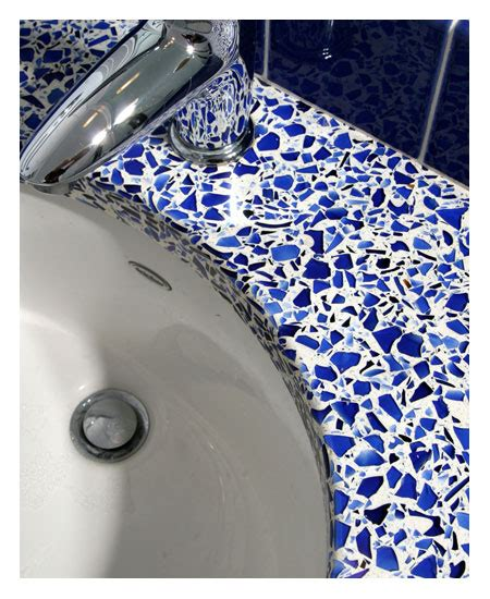 Recycled Glass Bathroom Countertops by Savvy Housekeeping 187 Recycled Glass Countertops