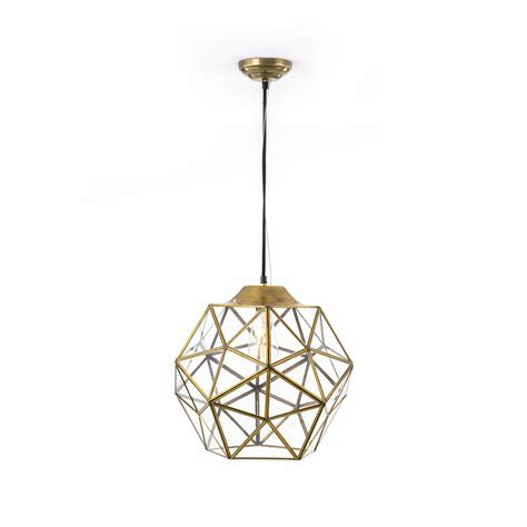 river station antique gold large glass and metal faceted